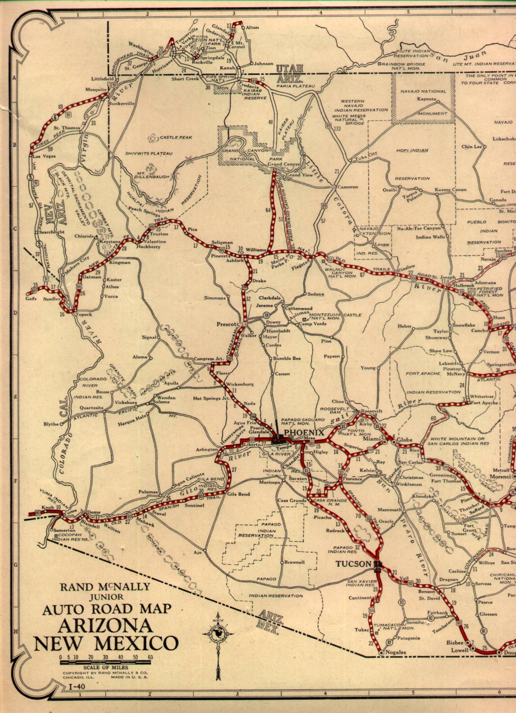 Map Of Us 60 Az Throwback Thursday; US Route 60/Arizona State Route 77 Salt River