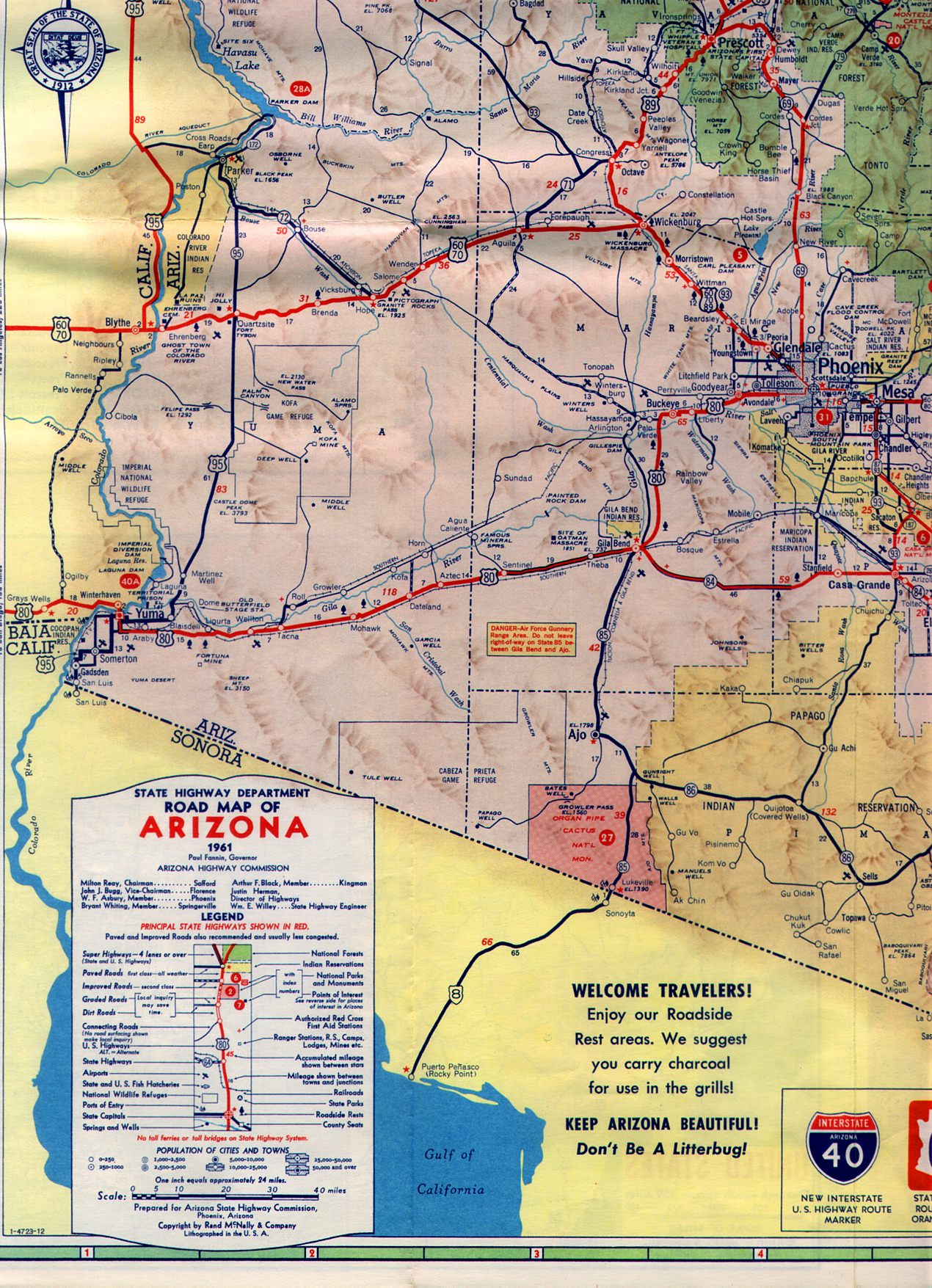 1961 State Highway Map 2016 Cross Country Road
