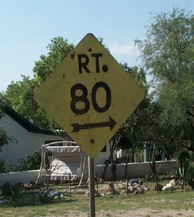 [Old Rt 80 sign]