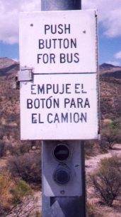[Push button for bus]