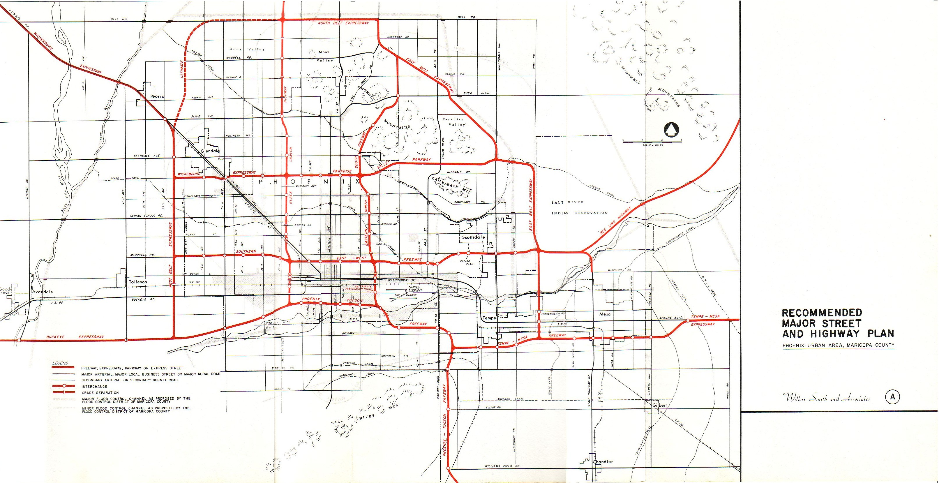 Urban Freeways - Us highway map 1960