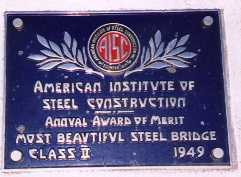 [Pinto Creek Award Plaque]