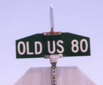 Us Arizona Map - Old us 80 arizona map